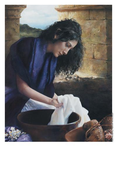 She Worketh Willingly With Her Hands - 11 x 14 print by Elspeth Young