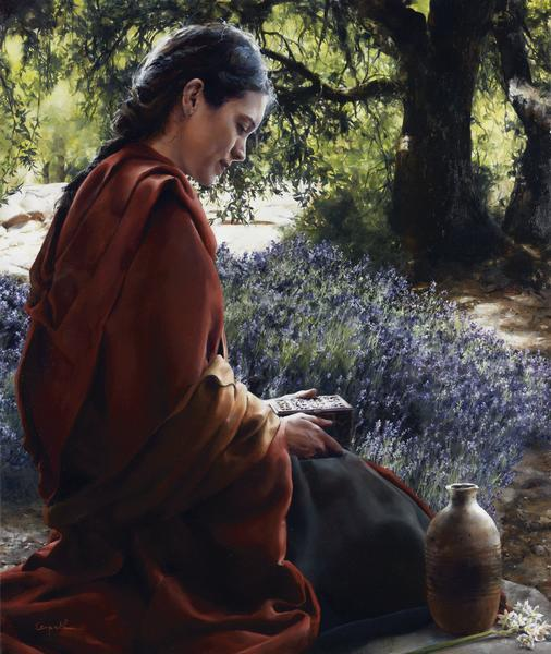 She Is Come Aforehand - 7.75 x 9 giclée on canvas (pre-mounted) by Elspeth Young