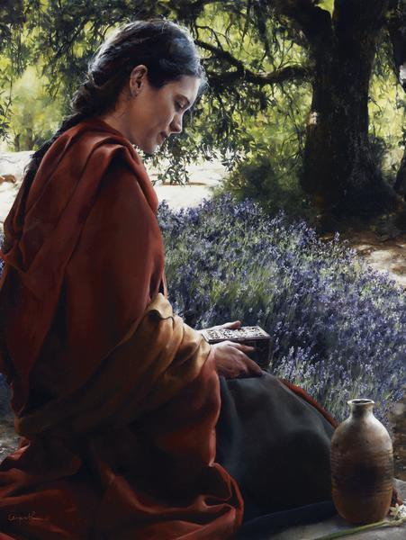 She Is Come Aforehand - 12 x 16 giclée on canvas (pre-mounted) by Elspeth Young