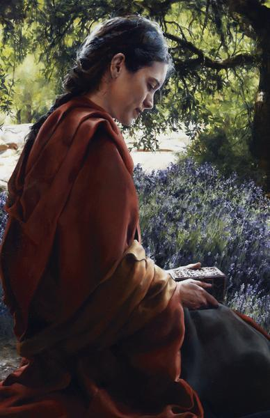 She Is Come Aforehand - 11 x 17 giclée on canvas (pre-mounted) by Elspeth Young