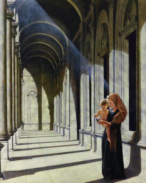 The Windows Of Heaven - 8 x 10 giclée on canvas (pre-mounted) by Al Young
