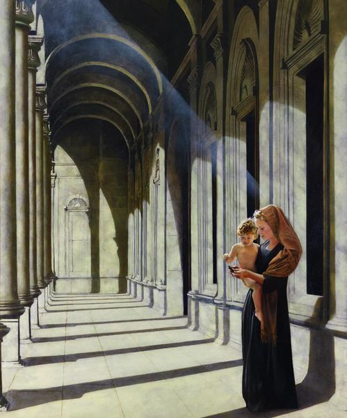 The Windows Of Heaven - 20 x 24 giclée on canvas (unmounted) by Al Young