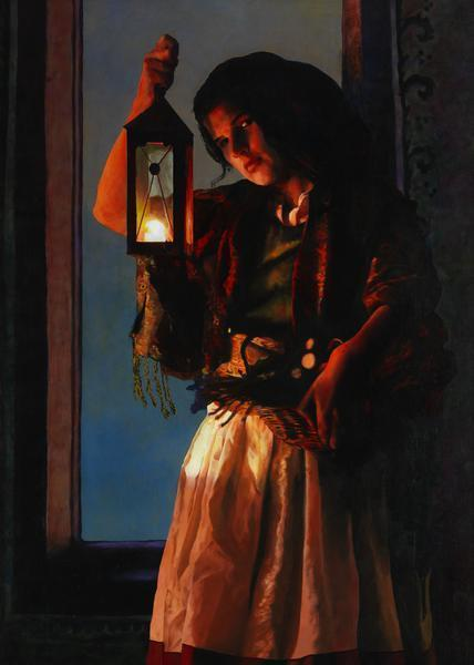 A Damsel Came To Hearken - 20 x 28 giclée on canvas (unmounted) by Ashton Young
