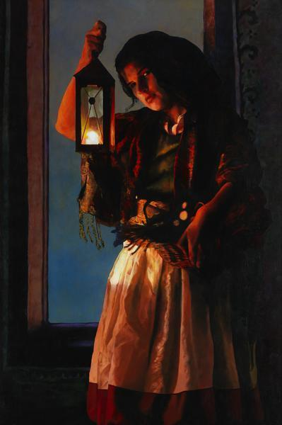 A Damsel Came To Hearken - 20 x 30 giclée on canvas (unmounted) by Ashton Young