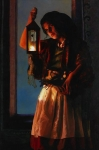 A Damsel Came To Hearken - 20 x 30 giclée on canvas (unmounted)