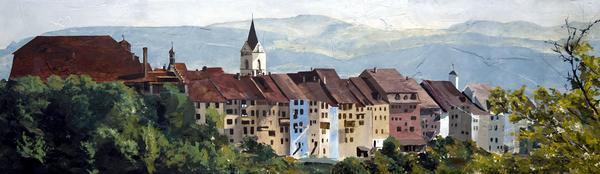 St. Gallen - 6 x 20.75 giclée on canvas (pre-mounted) by Ashton Young