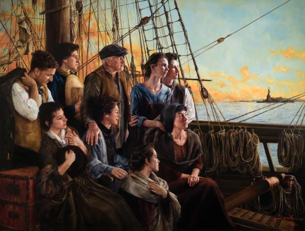 Sweet Land Of Liberty - 16 x 21.125 giclée on canvas (pre-mounted) by Elspeth Young