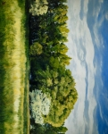Green And Pleasant Land - 16 x 19.875 giclée on canvas (pre-mounted)