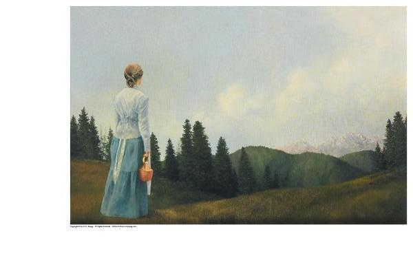 Mountain Home - 9 x 13.75 print by Al Young