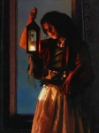 A Damsel Came To Hearken - 12 x 16 giclée on canvas (pre-mounted)