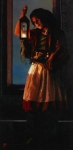 A Damsel Came To Hearken - 12 x 24.5 giclée on canvas (unmounted)