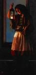 A Damsel Came To Hearken - 18 x 36.75 print