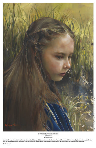 By The River's Brink - 11 x 17 print by Elspeth Young