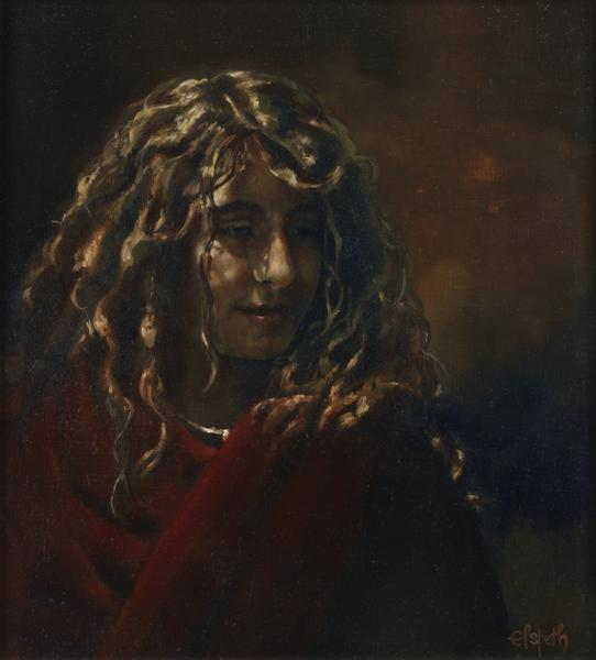 Blessed - 6 x 6.5 giclée on canvas (pre-mounted) by Elspeth Young