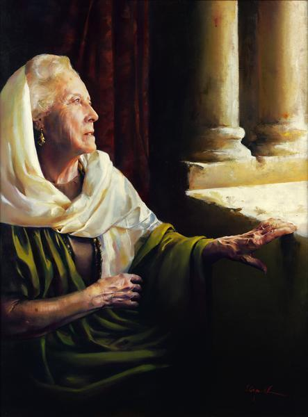 Blessed Is She That Believed - 6 x 8 giclée on canvas (pre-mounted) by Elspeth Young