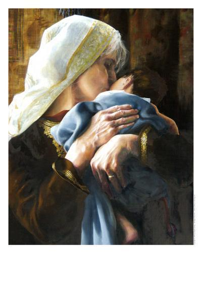 Is Anything Too Hard For The Lord - 11 x 14 print by Elspeth Young