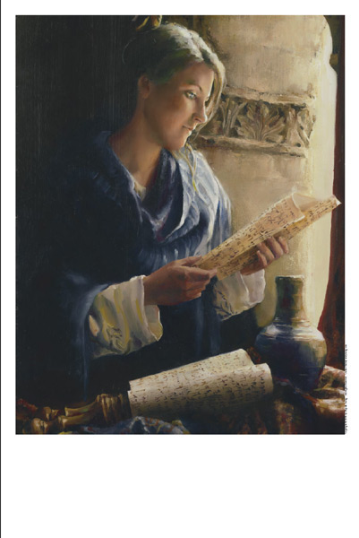 Treasure The Word - 11 x 14 print by Elspeth Young