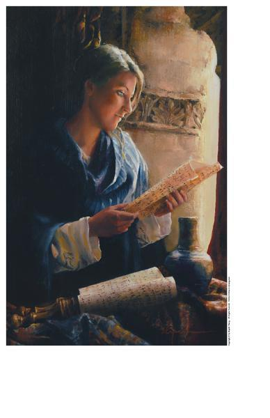 Treasure The Word - 9 x 13.75 print by Elspeth Young