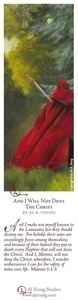 And I Will Not Deny The Christ - Bookmark by Al Young