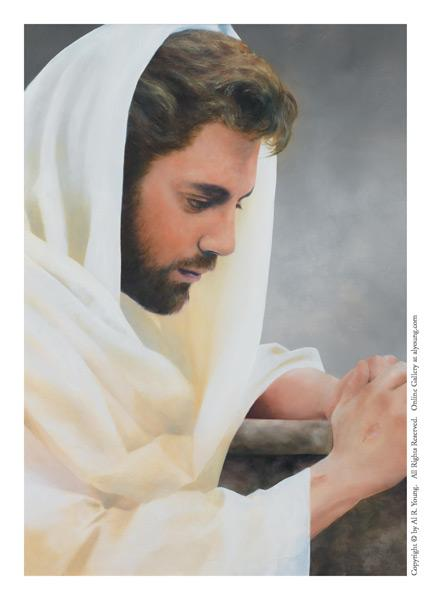We Heard Him Pray For Us - 4 x 5.75 print by Al Young