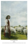 With Her Father's Sheep - 11 x 17 print