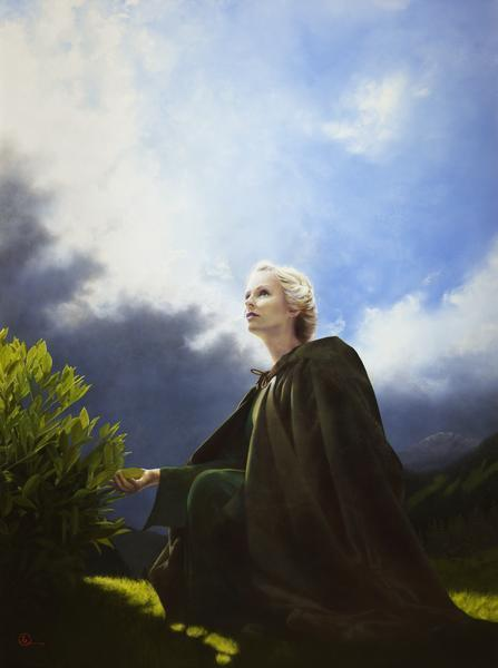 The Mother Of All Living - 6 x 8 giclée on canvas (pre-mounted) by Al Young