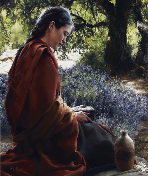 She Is Come Aforehand - 9 x 10.75 giclée on canvas (pre-mounted) by Elspeth Young