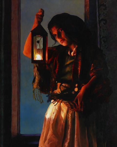 A Damsel Came To Hearken - 8 x 10 giclée on canvas (pre-mounted) by Ashton Young