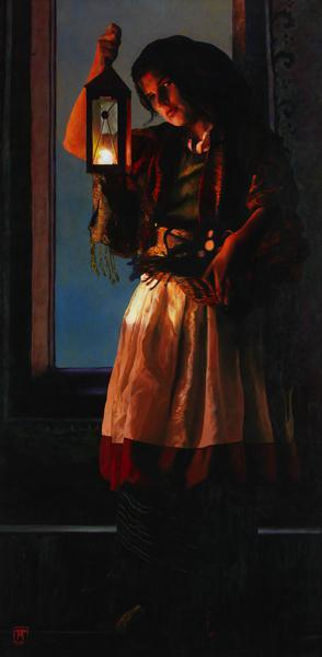 A Damsel Came To Hearken - 20 x 40.75 print by Ashton Young