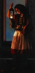 A Damsel Came To Hearken - 20 x 40.75 giclée on canvas (unmounted)