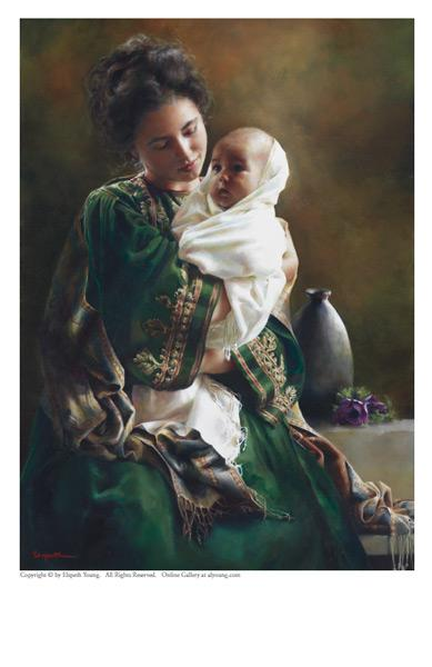 Bearing A Child In Her Arms - 5 x 7 print by Elspeth Young