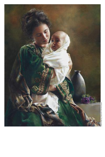Bearing A Child In Her Arms - 11 x 14 print by Elspeth Young