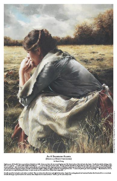 As A Sparrow Alone - 11 x 17 print by Elspeth Young