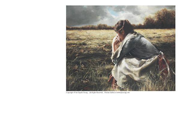 As A Sparrow Alone - 4 x 5.25 print by Elspeth Young