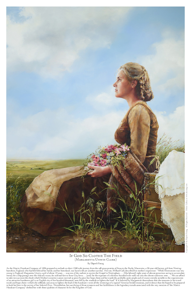 If God So Clothe The Field - 11 x 17 print by Elspeth Young