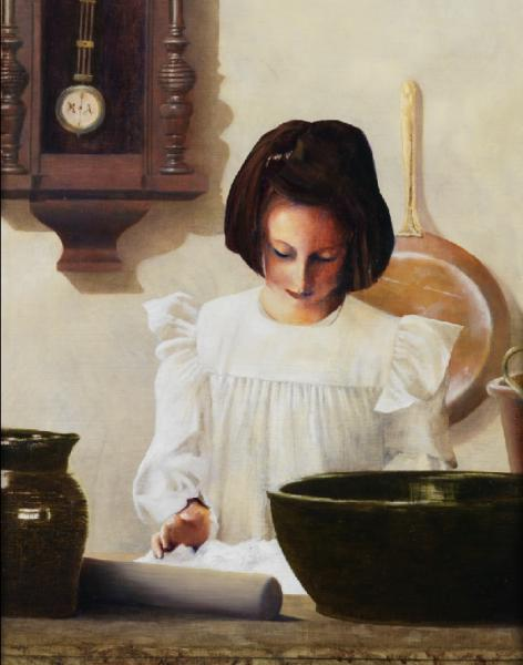 Sara Crewe - 11 x 14 giclée on canvas (pre-mounted) by Al Young