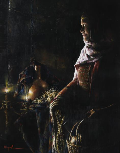 A Lamp Unto My Feet - 11 x 14 giclée on canvas (pre-mounted) by Elspeth Young