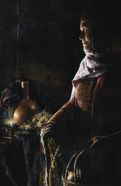 A Lamp Unto My Feet - 11 x 17 giclée on canvas (pre-mounted) by Elspeth Young