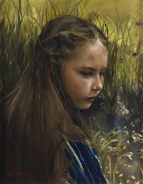 By The River's Brink - 14 x 18 giclée on canvas (pre-mounted) by Elspeth Young