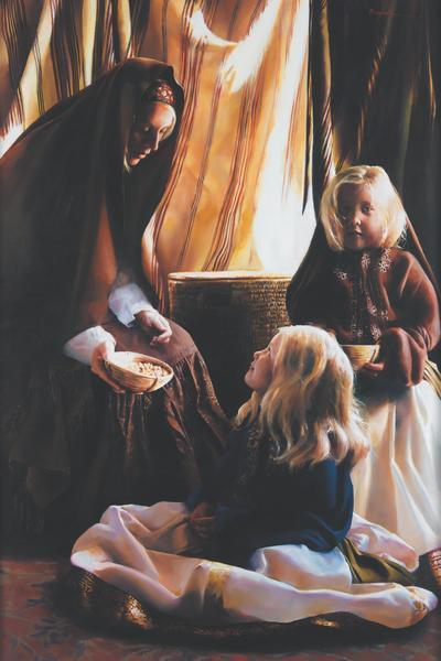 The Daughters Of Zelophehad - 24 x 36 print by Elspeth Young