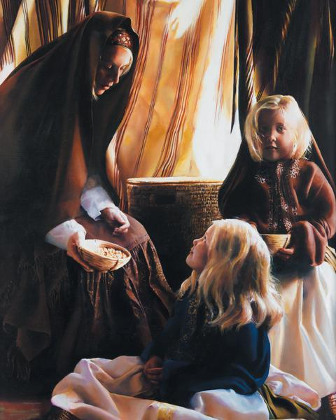The Daughters Of Zelophehad - 16 x 20 print by Elspeth Young