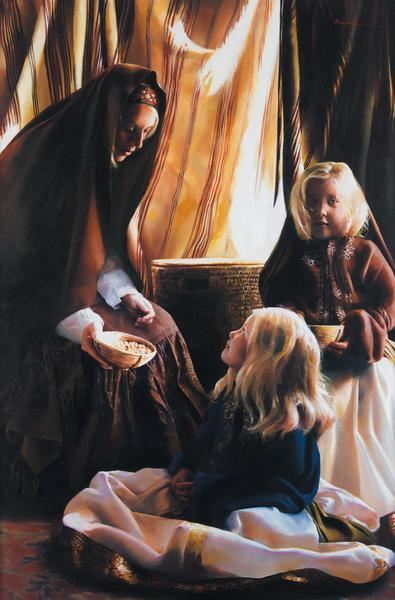 The Daughters Of Zelophehad - 18 x 27.25 print by Elspeth Young