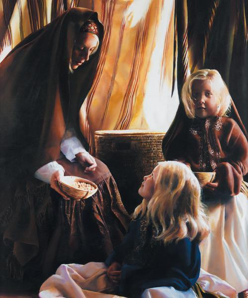 The Daughters Of Zelophehad - 20 x 24 print by Elspeth Young