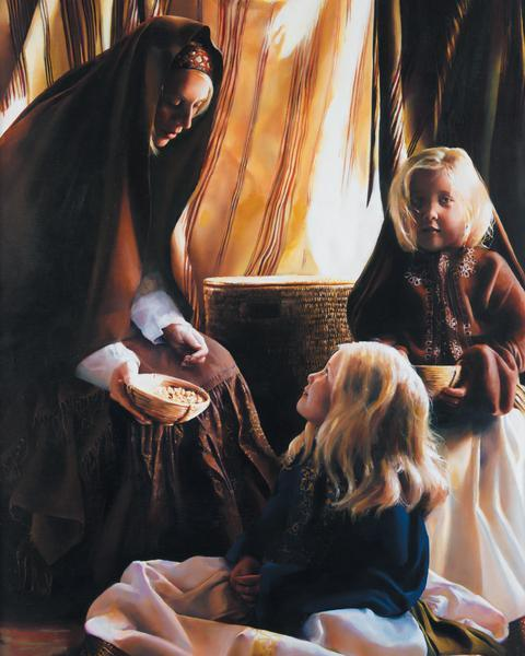 The Daughters Of Zelophehad - 24 x 30 print by Elspeth Young