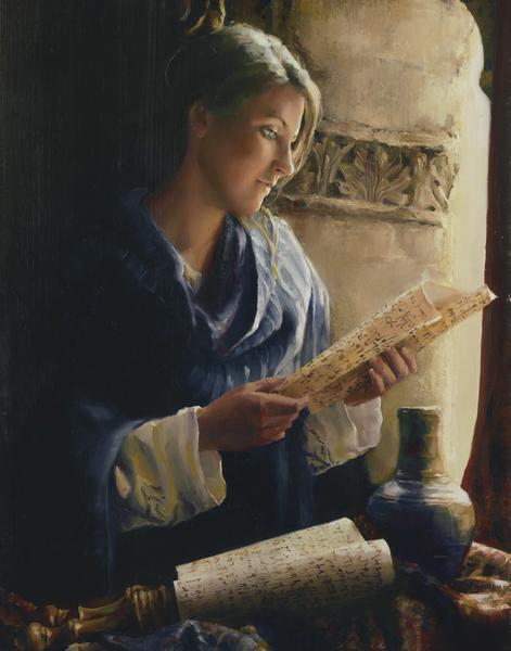 Treasure The Word - 11 x 14 giclée on canvas (pre-mounted) by Elspeth Young