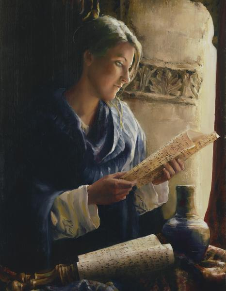 Treasure The Word - 14 x 18 giclée on canvas (pre-mounted) by Elspeth Young