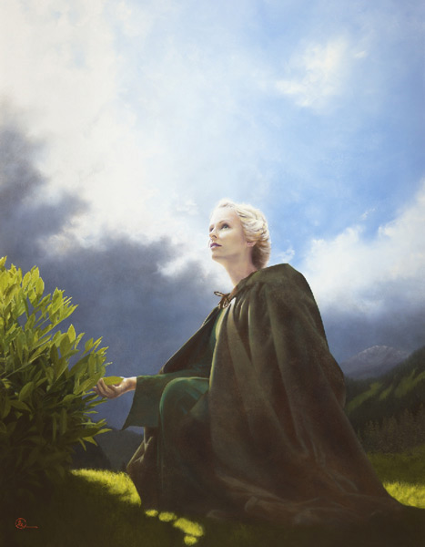 The Mother Of All Living - 14 x 18 giclée on canvas (pre-mounted) by Al Young
