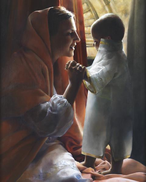 For This Child I Prayed - 8 x 10 giclée on canvas (pre-mounted) by Elspeth Young