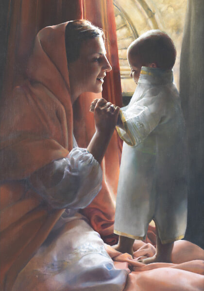 For This Child I Prayed - 14 x 20 giclée on canvas (pre-mounted) by Elspeth Young