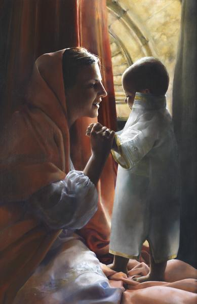 For This Child I Prayed - 11 x 17 giclée on canvas (pre-mounted) by Elspeth Young